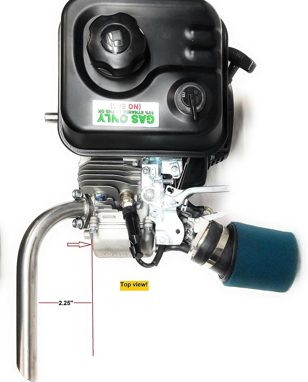 GX200 Honda GX160 Exhaust Pipe for Predator 212cc Go Kart /& mini bikes