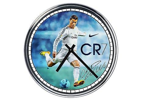 Reloj de pared de acero Cristiano Ronaldo.