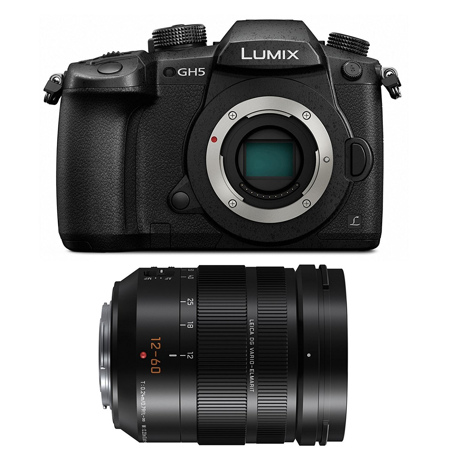 PANASONIC LUMIX GH5 Body 4K Mirrorless Camera with LUMIX G LEICA DG 12-60mm F2.8-4.0 Lens