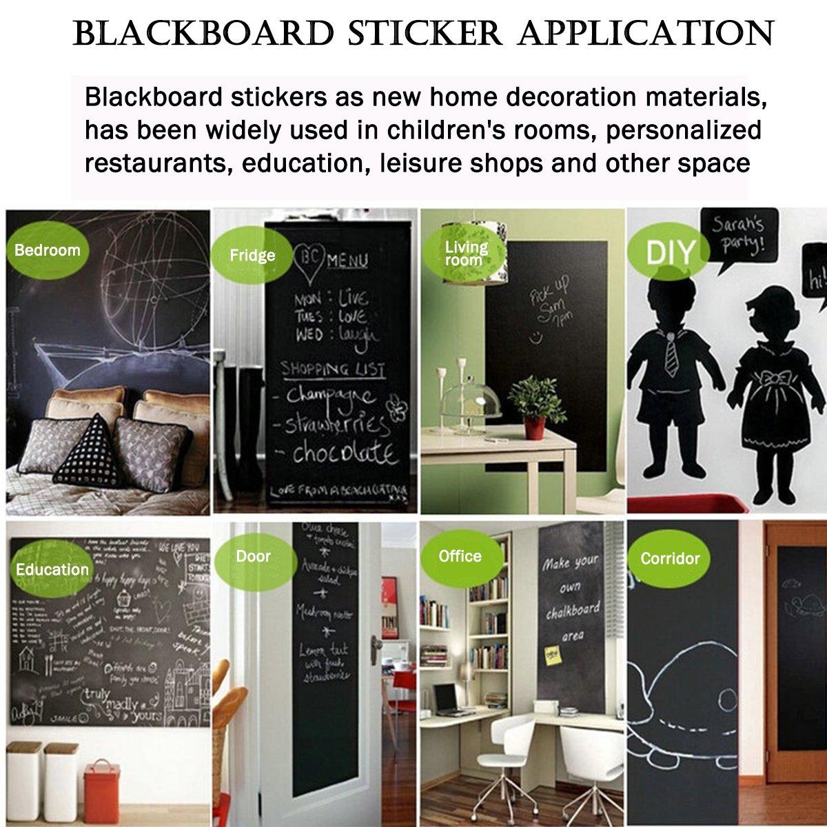 Cusfull Self Adhesive Blackboard Removable Chalkboard Wall Sticker For  Home, Office U0026 Decor 35.4