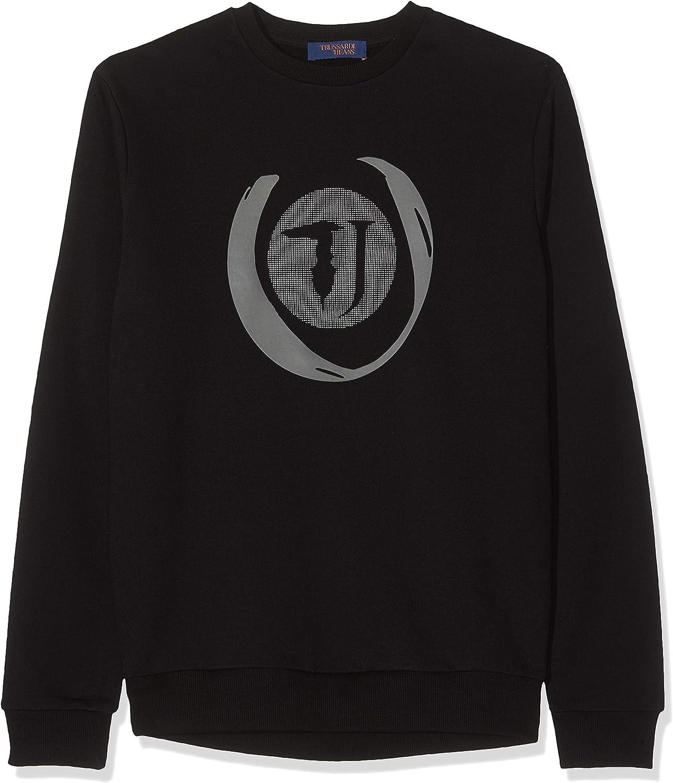 Trussardi Jeans Sweater Cotton Fleece Regular Felpa Uomo