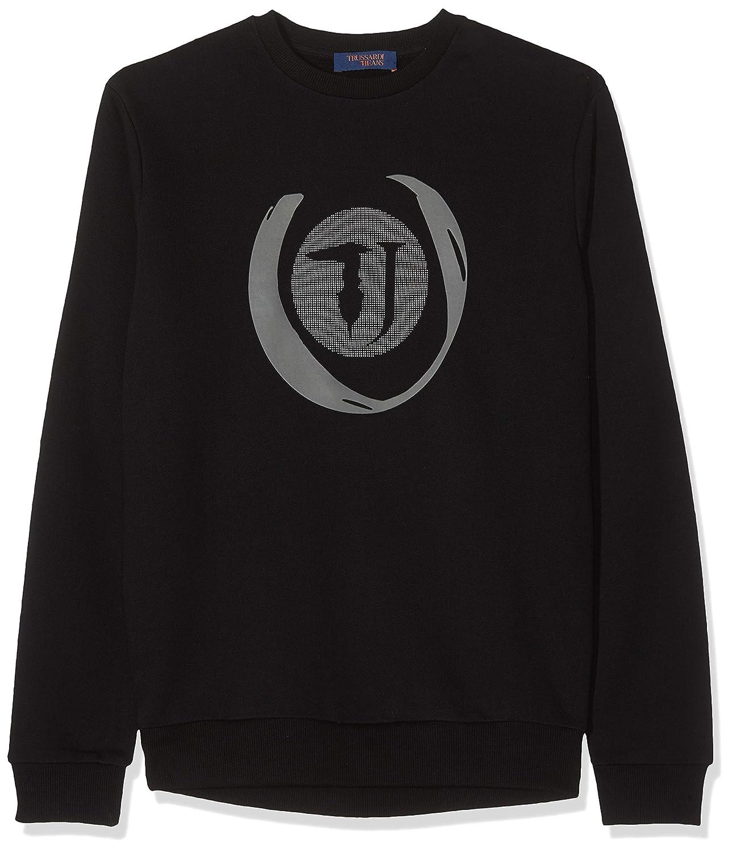 Noir (noir K299) M Trussardi Jeans chandail Cotton Fleece Regular Shirt à Capuche Sport Homme