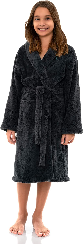 Kids Plush Shawl Fleece Bathrobe TowelSelections Boys Robe