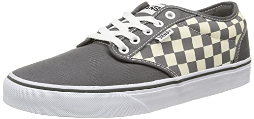 VANS Men's Shoes Atwood Checkers Gray-Natural Sneakers ...