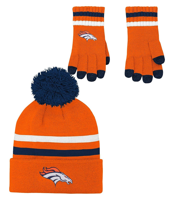NFL キッズ&ユース 男の子用 2点 ニット帽子と手袋セット Kids 1 Size オレンジ   B073WS8TQQ