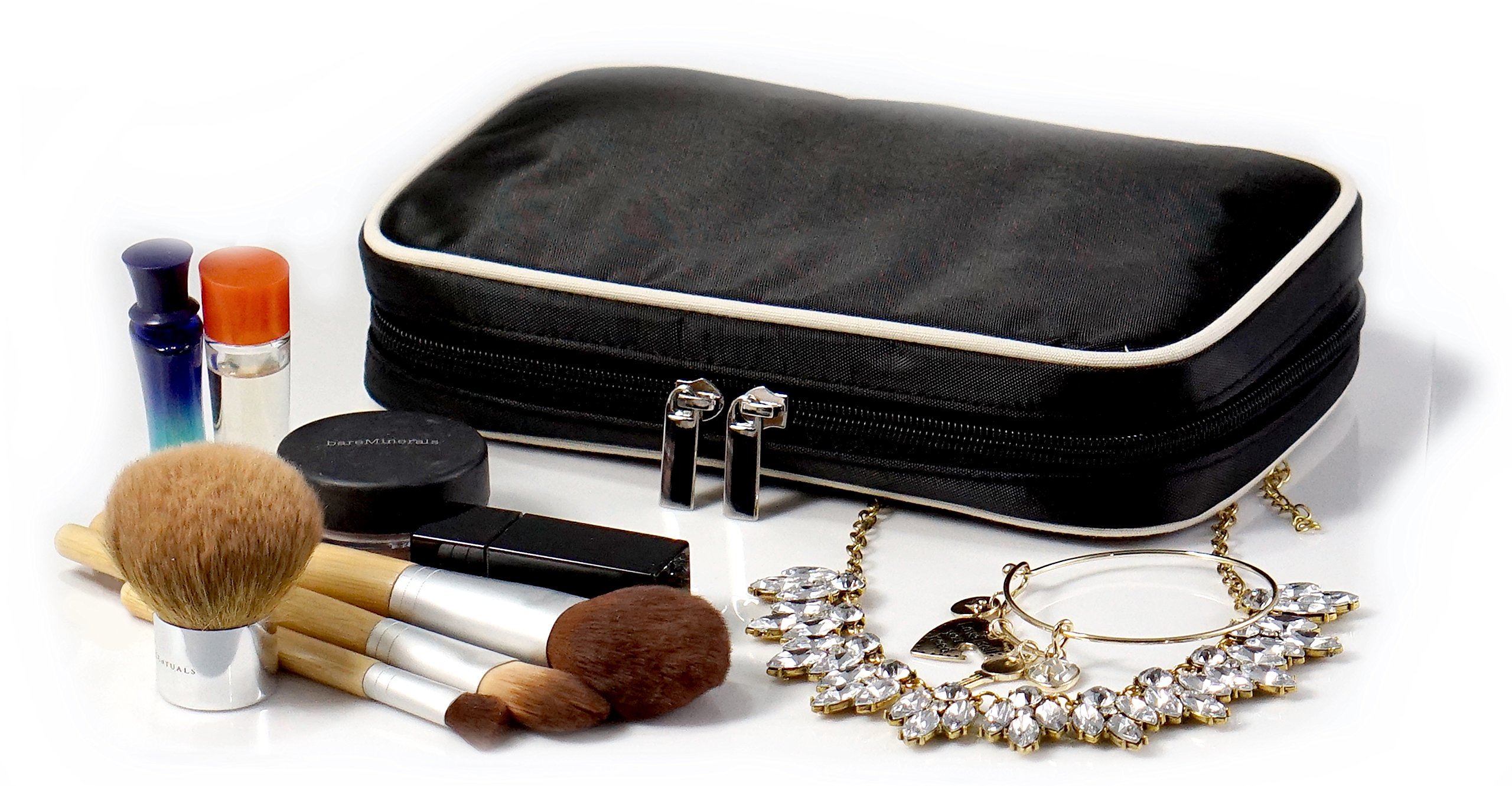 Jewelry & Accessories Travel Organizer Bag Case (Black) by Simple Accessories (Image #1)
