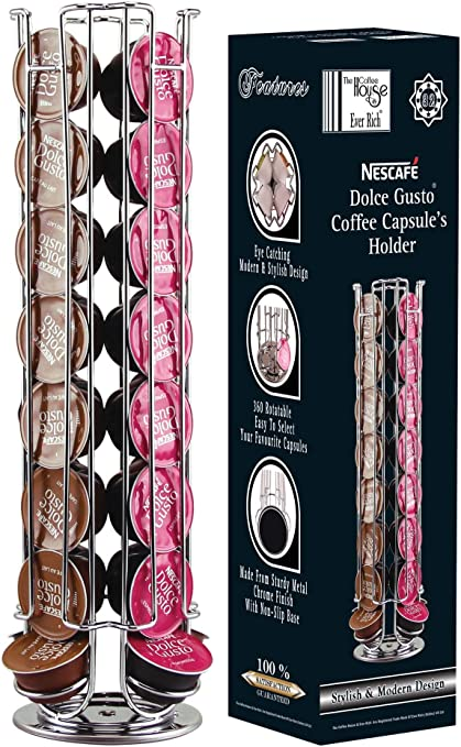 EVER RICH ® Dolce Gusto Soporte Giratorio para 24/32/35 cápsulas de café (32): Amazon.es: Hogar