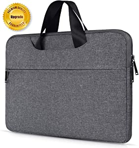 13.3-14 Inch Premium Water Resistant Laptop Case Handbag for Macbook Pro 15 Inch, HP Stream 14, Acer Chromebook 14, Lenovo Yoga 920 13.9, ASUS Lenovo Dell HP Toshiba Portable Bag Case, Space Grey