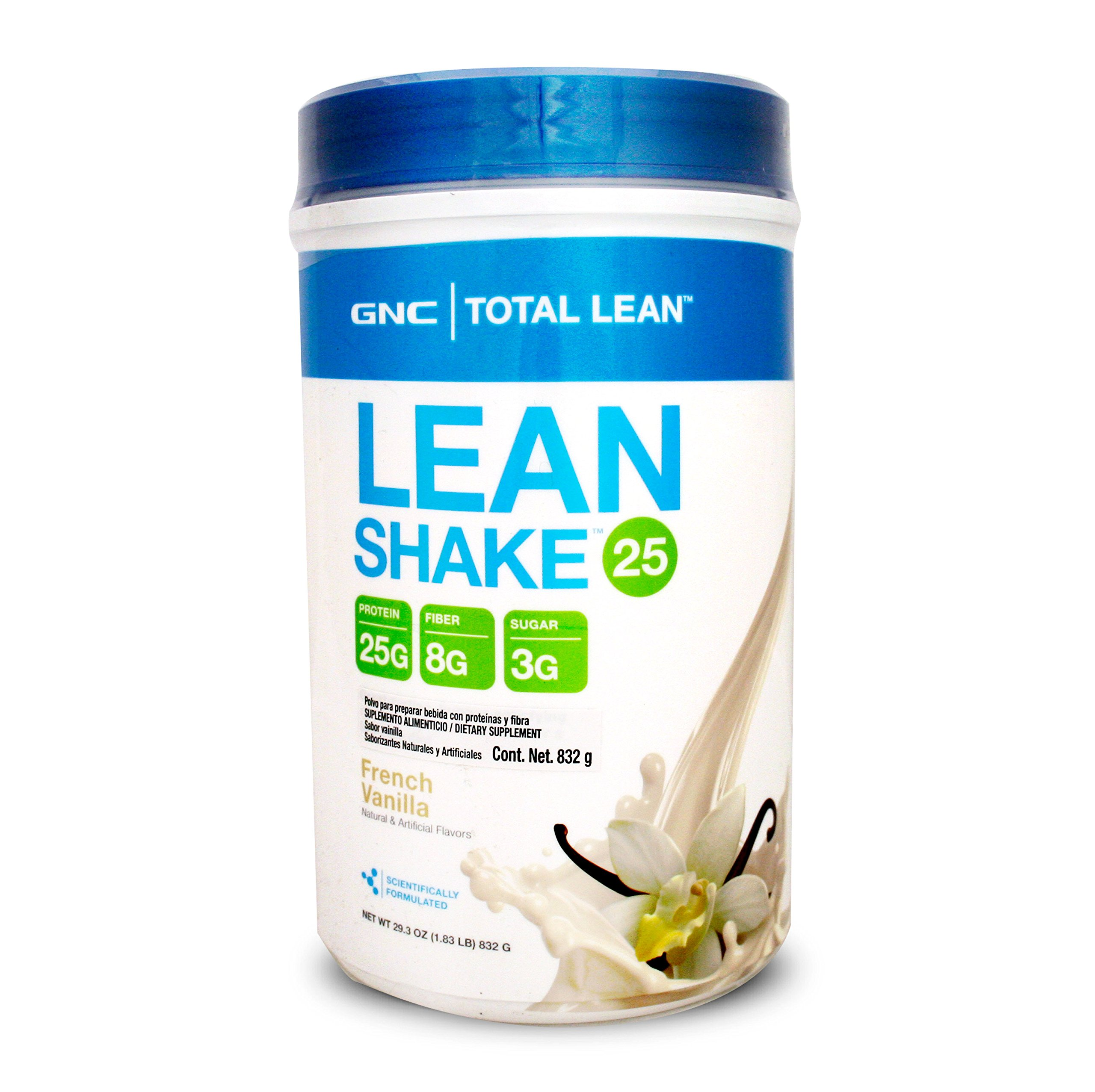 GNC Total Lean Meal Replacement Shake, Promote Lean Muscle Tone Metabolism, French Vanilla - 1.83 Pound