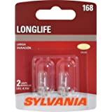 SYLVANIA - 168 Long Life Miniature - Bulb, Ideal for Interior Lighting – Map, Dome, Truck, Cargo and License Plate…