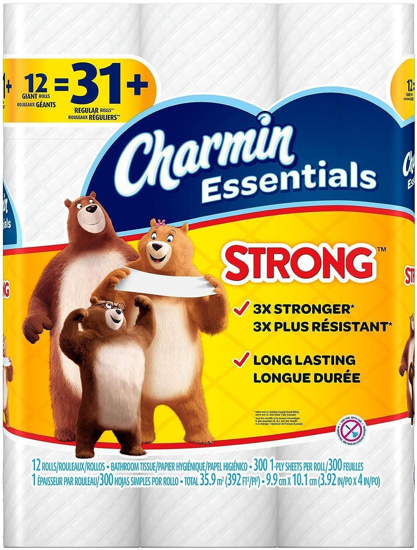 Charmin Essentials Strong Toilet Paper, Bath Tissue, Giant ...