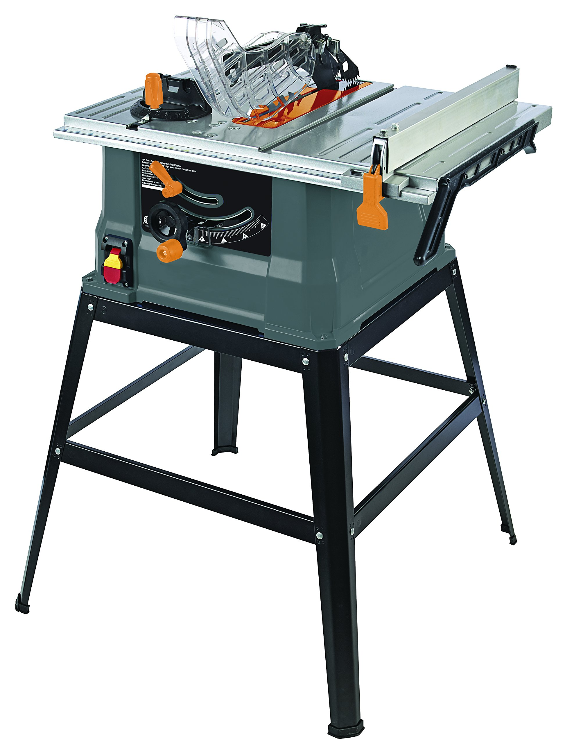 TruePower 10'' 15 AMP TABLE SAW WITH STEEL STAND by TruePower