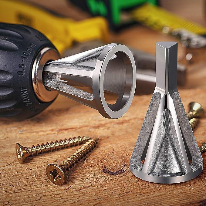 Edelstahl beseitigt besch/ädigte Abzieher passend f/ür Schrauben der Gr/ö/ße 8 Entgraten externer Fasenwerkzeug aus Edelstahl zum Entfernen von Graten f/ür Bohrer Silber-1 32
