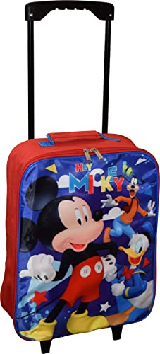 Junior Mickey And The Roadster Racers 15 Collapsible Wheeled Pilot Case – Rolling Luggage