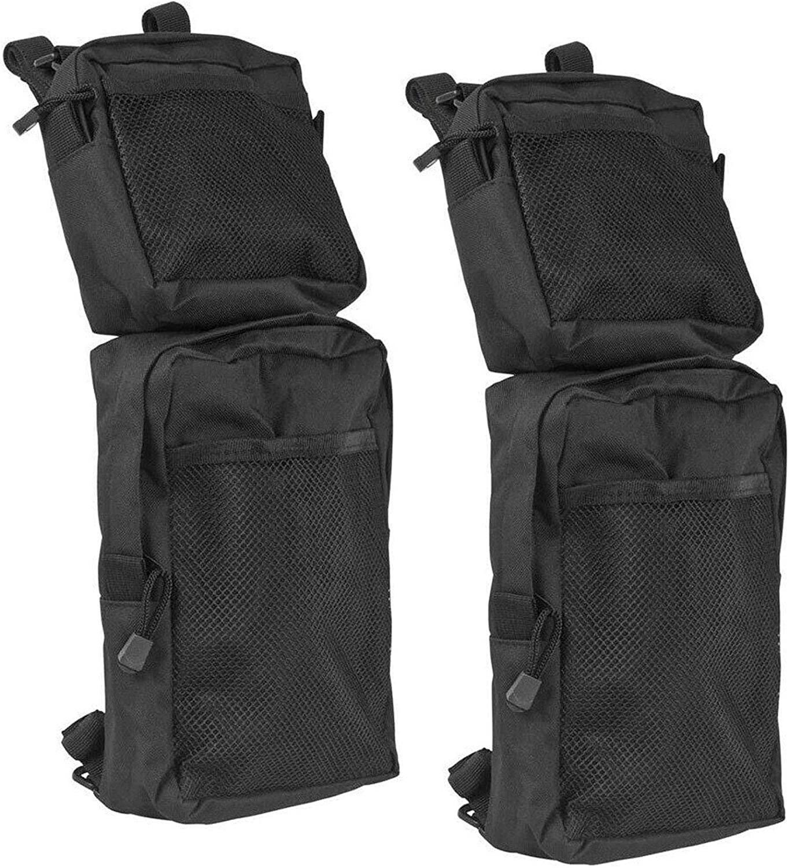 CKEGUO ATV Fender Bags, 2-Pack Motorcycle ATV Tank Saddlebags, Universal Rear Storage Tool Bags for ATV UTV Dirt Bike (Black)