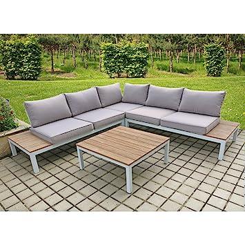 Amazon.de: Lounge Set VALENTINA 4tlg Sitzgruppe Sitzgarnitur ...
