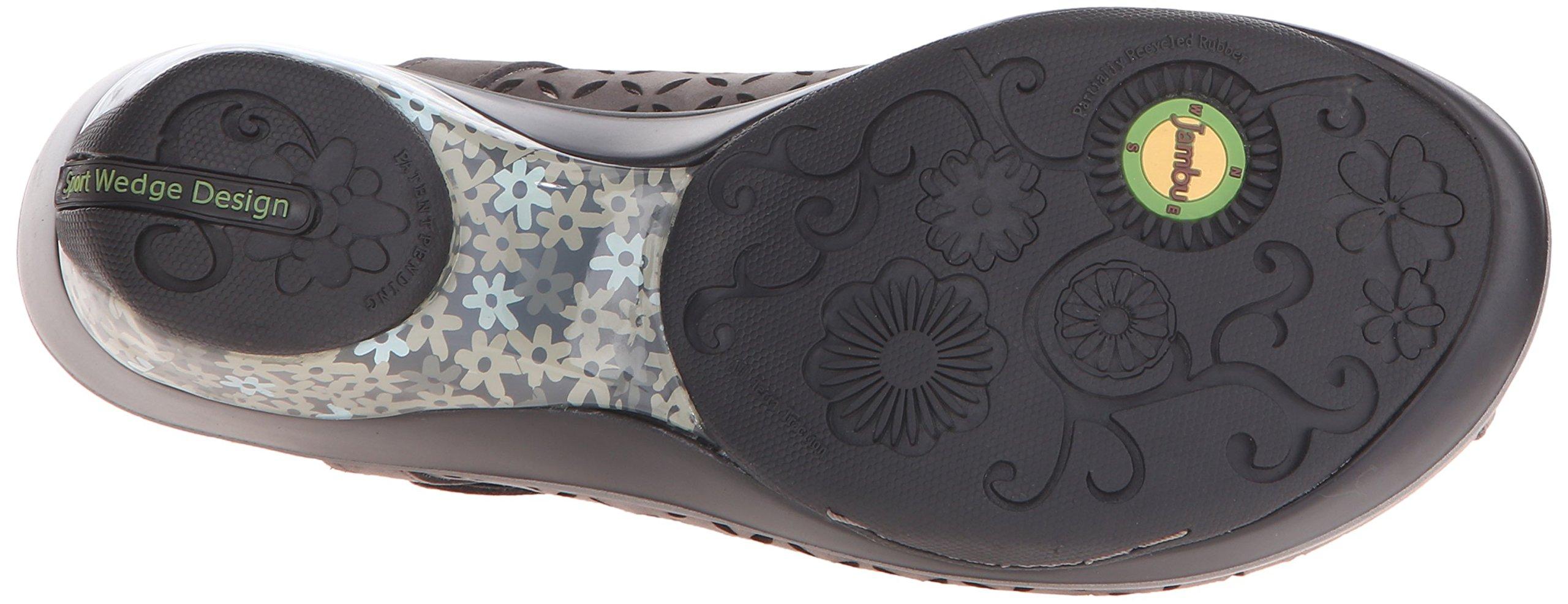 Jambu Women's Journey Encore Wedge Sandal, Dark Grey, 10 M US by Jambu (Image #3)