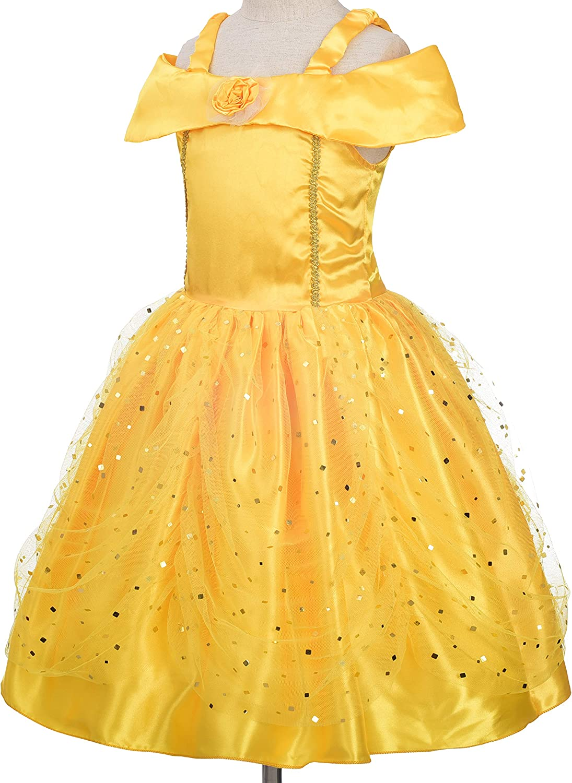 Dressy Daisy Princess Dress Up Costume Gold Yellow Ballgown Fancy Halloween Xmas Birthday Party Carnival