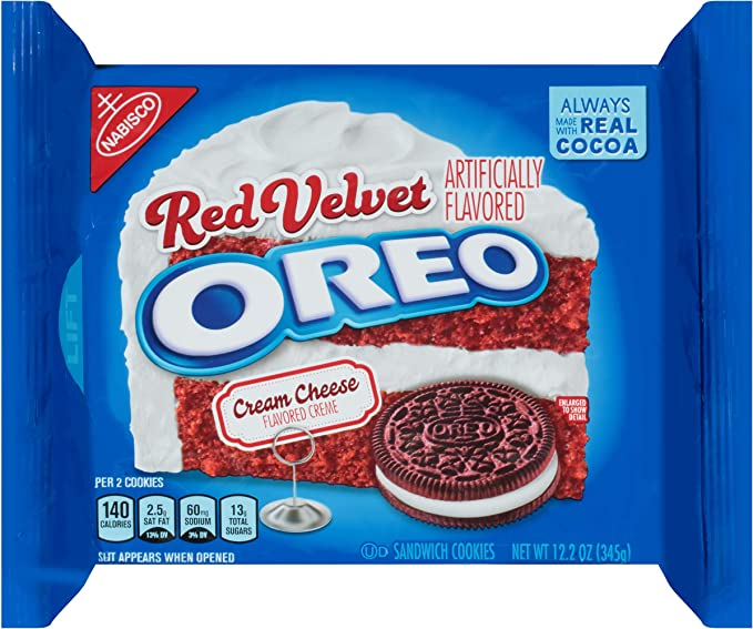 Nabisco Oreo Sandwich Cookies Red Velvet Limited Edition: Amazon ...