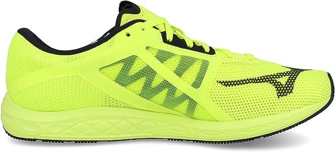 Mizuno Wave Sonic 2, Zapatillas de Running para Hombre, Amarillo Seguridad Amarillo Negro Blanco 2, 42 EU: Amazon.es: Zapatos y complementos