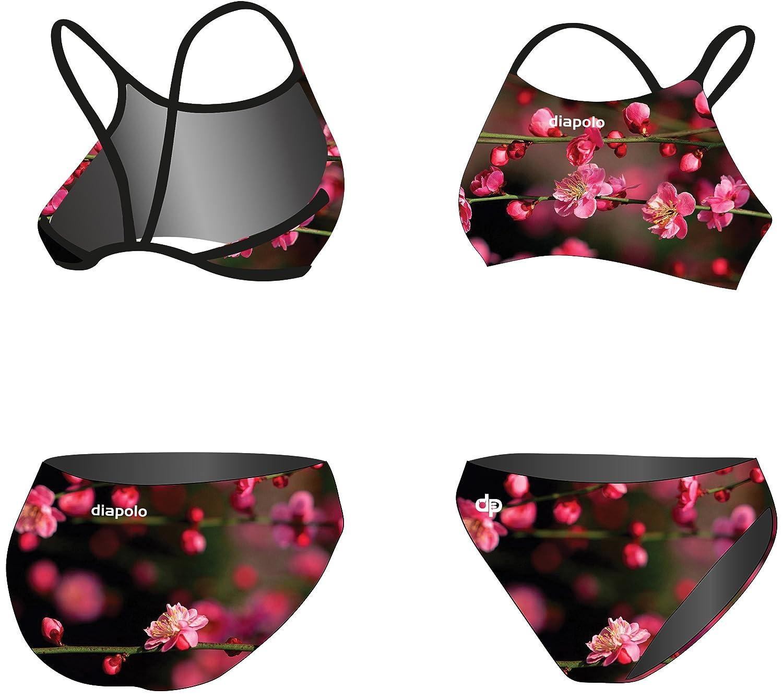 Diapolo Blossom Flower Sport-Bikini Zweiteiler aus der Spring Kollektion für Schwimmen Synchronschwimmen Wasserball Thriathlon