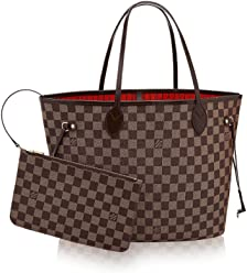 LOUIS VUITTON Damier Ebene Canvas Neverfull MM .