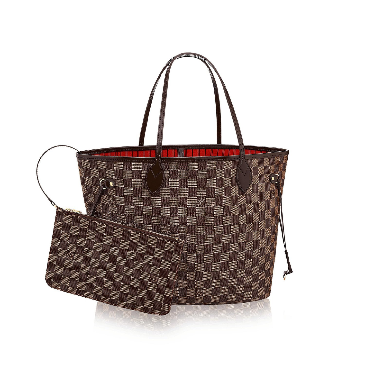 .LOUIS VUITTON Damier Ebene Canvas Neverfull MM  Handbags  Amazon.com 30e9b143c726d
