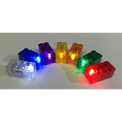 LED Colored Light Bricks - 7 Pack Light Bricks Lot: Toys & Games