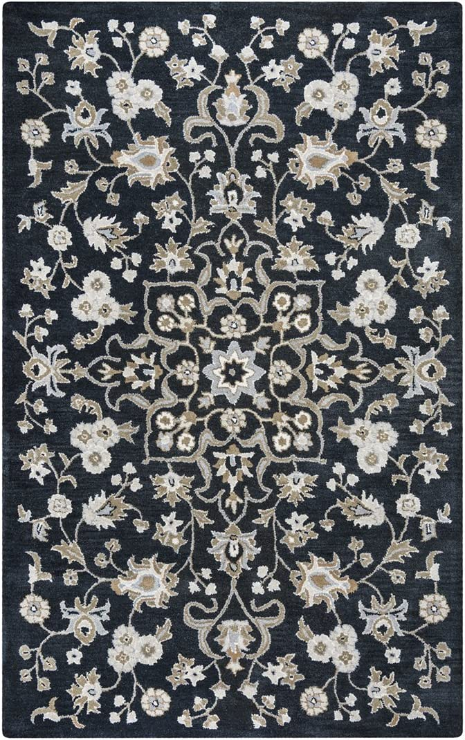 Rizzy Home Valintino Hand-Tufted Area Rug 9 Ft. X 12 Ft. Black