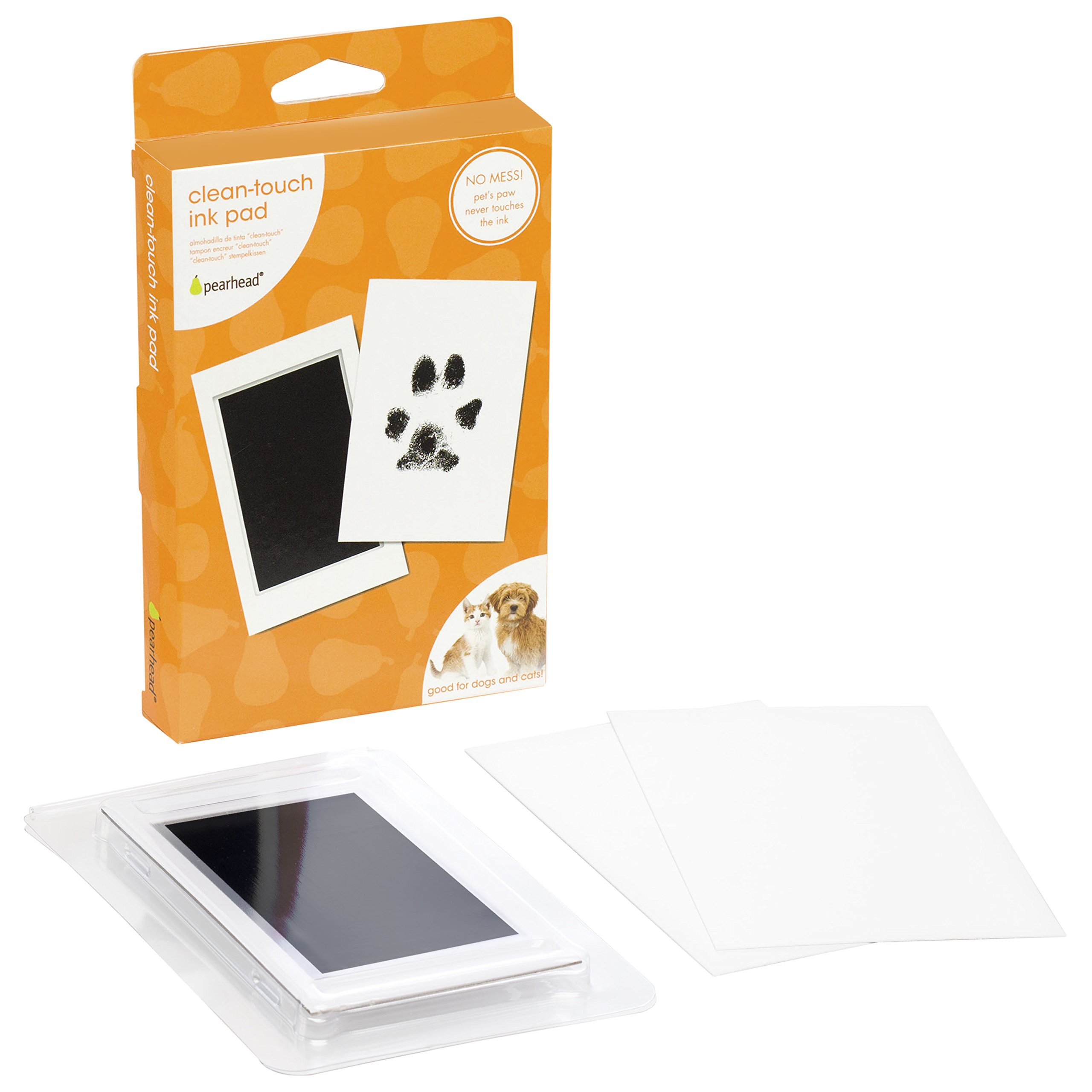 Pearhead Pet Paw Print Clean Touch Ink Pad and