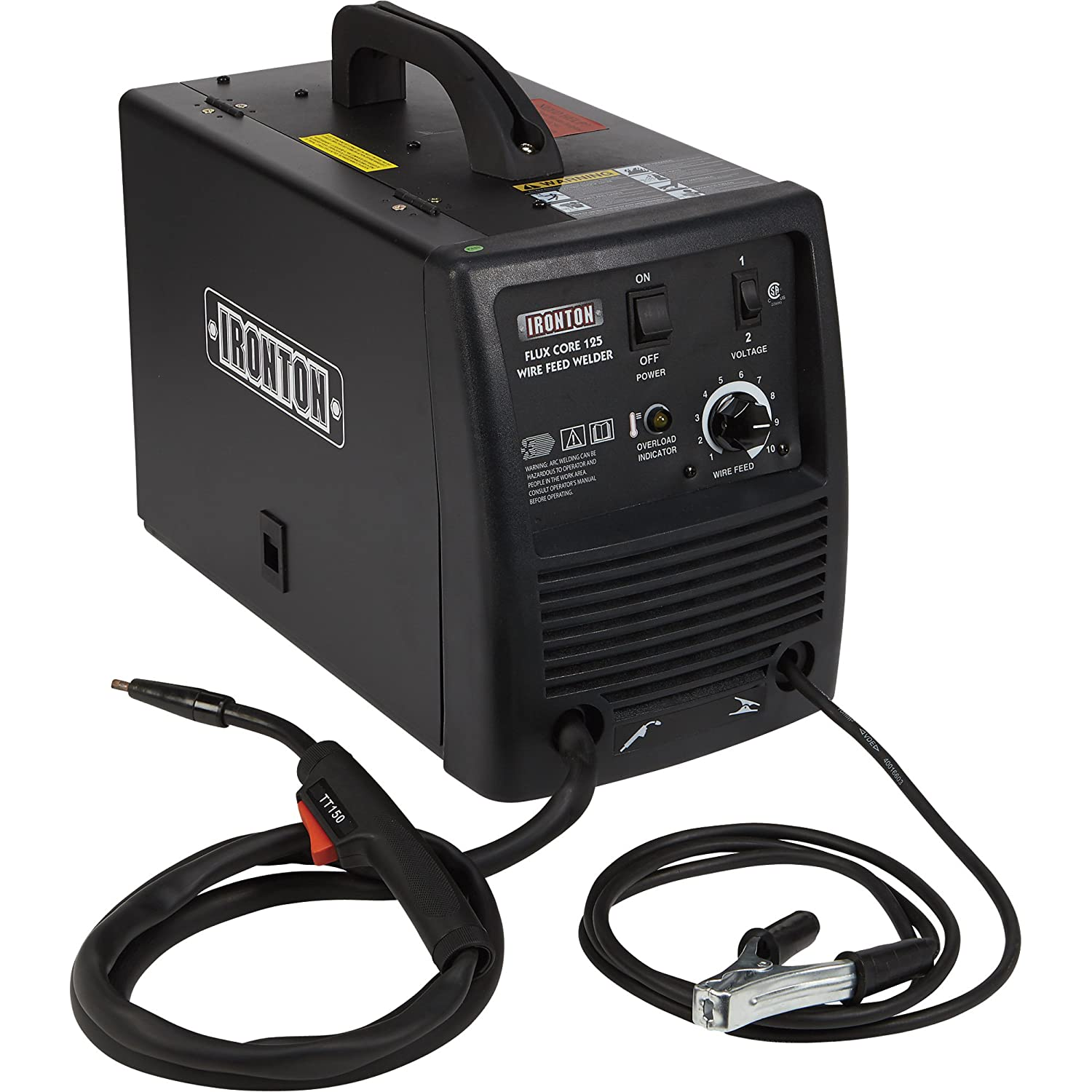 Ironton Flux Core 125 115v Cored Welder Amp Output Wiring A