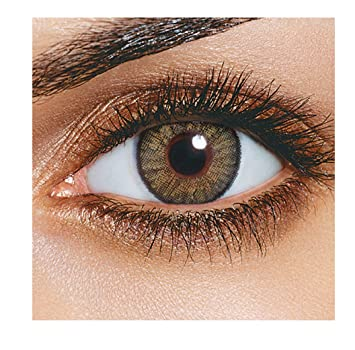 080fb10ecd2 Buy Skhoza Monthly Coloured Contact Lens-Zero Power (Hazel) Online at Low  Prices in India - Amazon.in