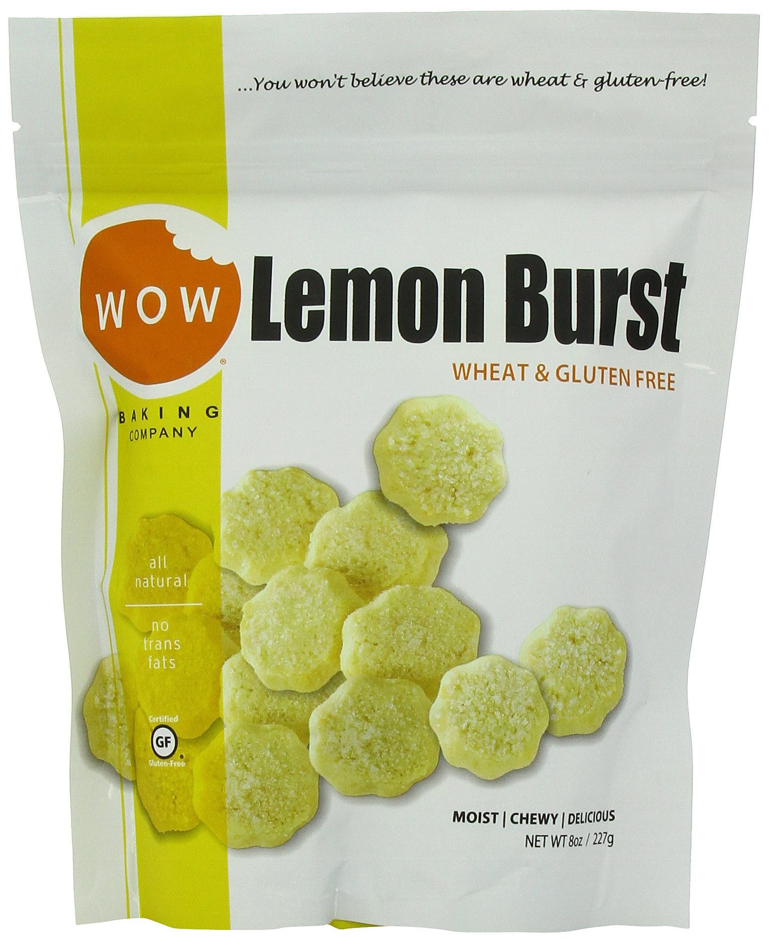 WOW BAKING COMPANY Cookies, Lemon Burst, 8-Ounce (Pack of 6)