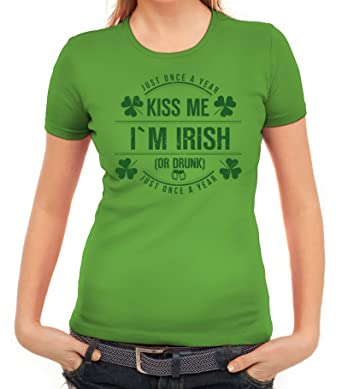 Irland St. Patrick's Day Partner Gruppen Damen T-Shirt Kiss Me I'm Irish:  Amazon.de: Bekleidung