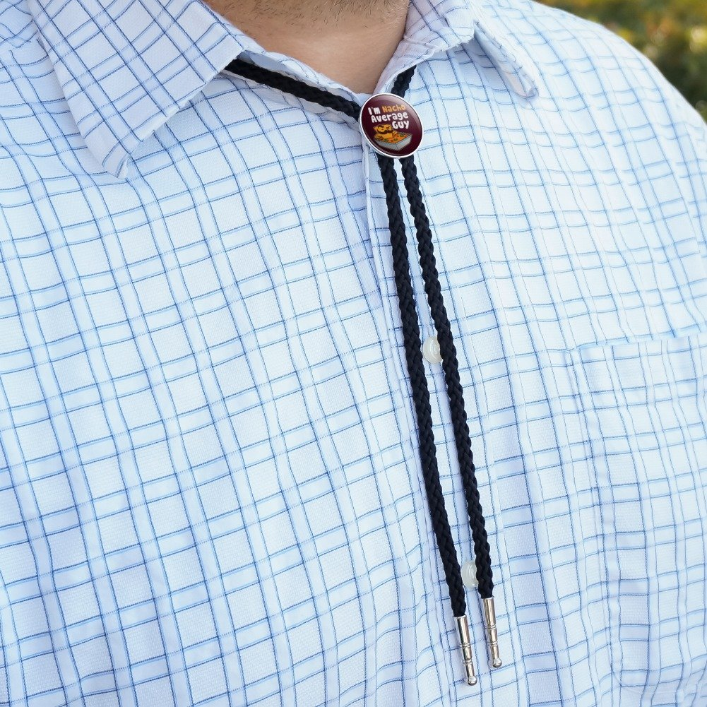 Im Nacho Average Guy Chip with Mustache Funny Western Southwest Cowboy Necktie Bow Bolo Tie