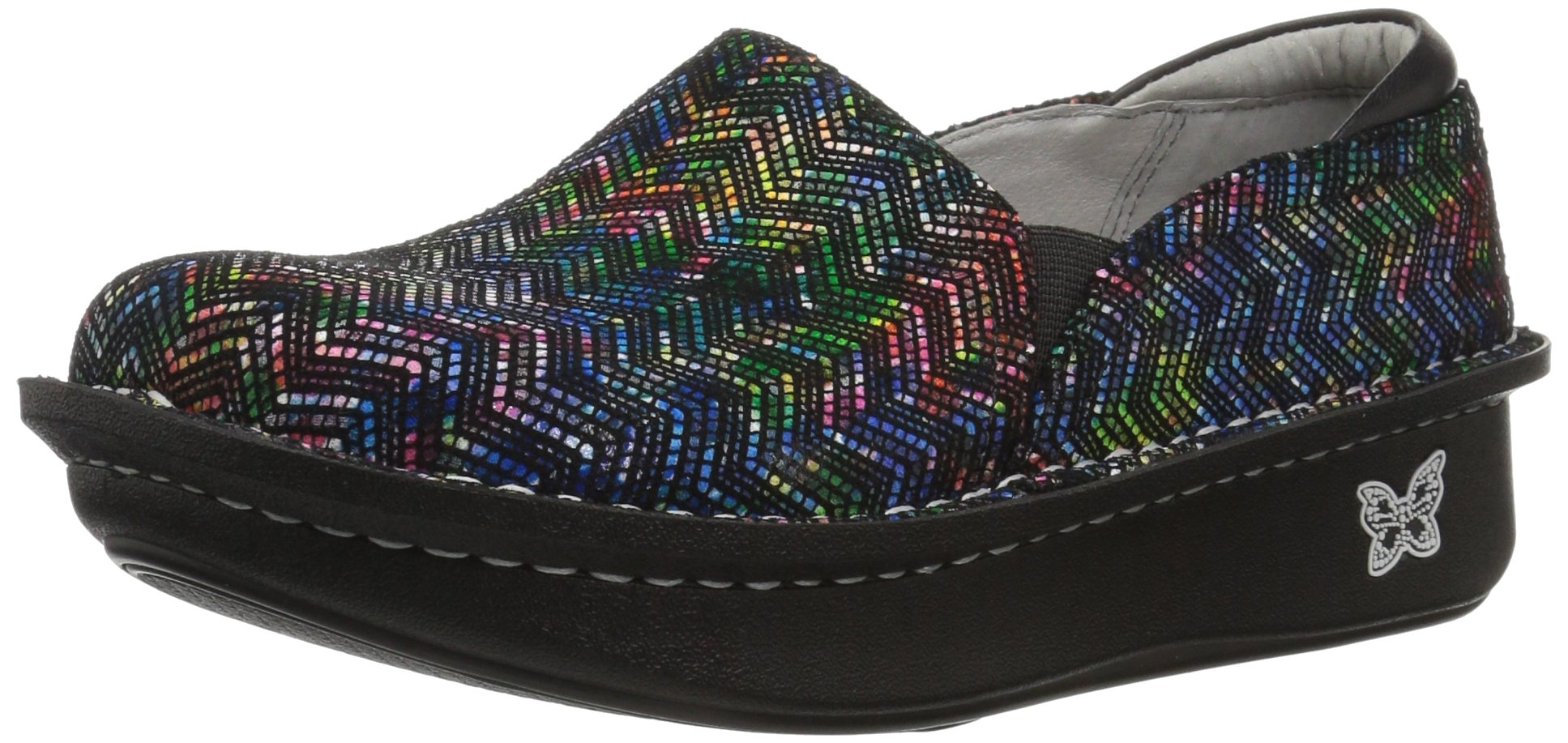 Alegria Women's Debra Loafer, Ric Rack Rainbow, 38W Wide EU (8-8.5 US) by Alegria