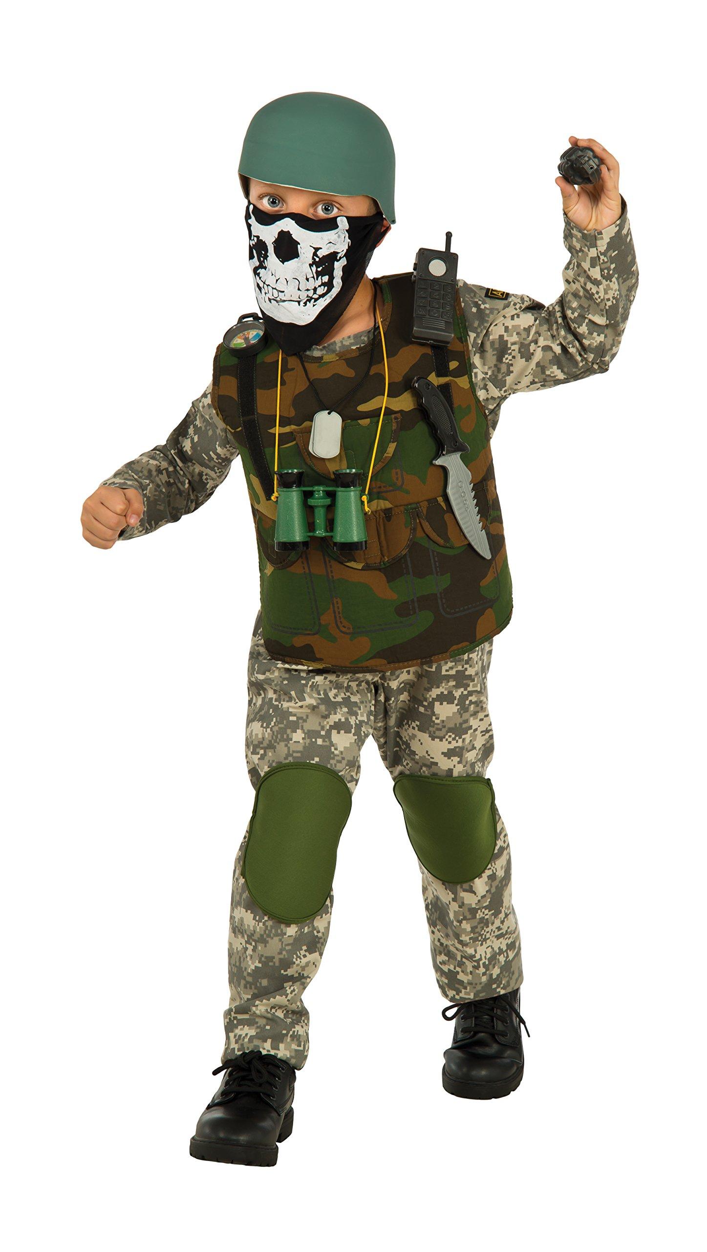 Deluxe Child Camo Trooper Costume, Small