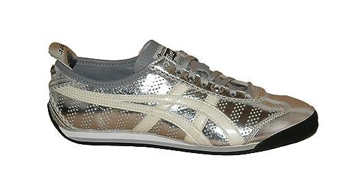 Onitsuka Tiger - Zapatillas de Piel para hombre plateado plateado plateado Size: 8 US: Amazon.es: Zapatos y complementos