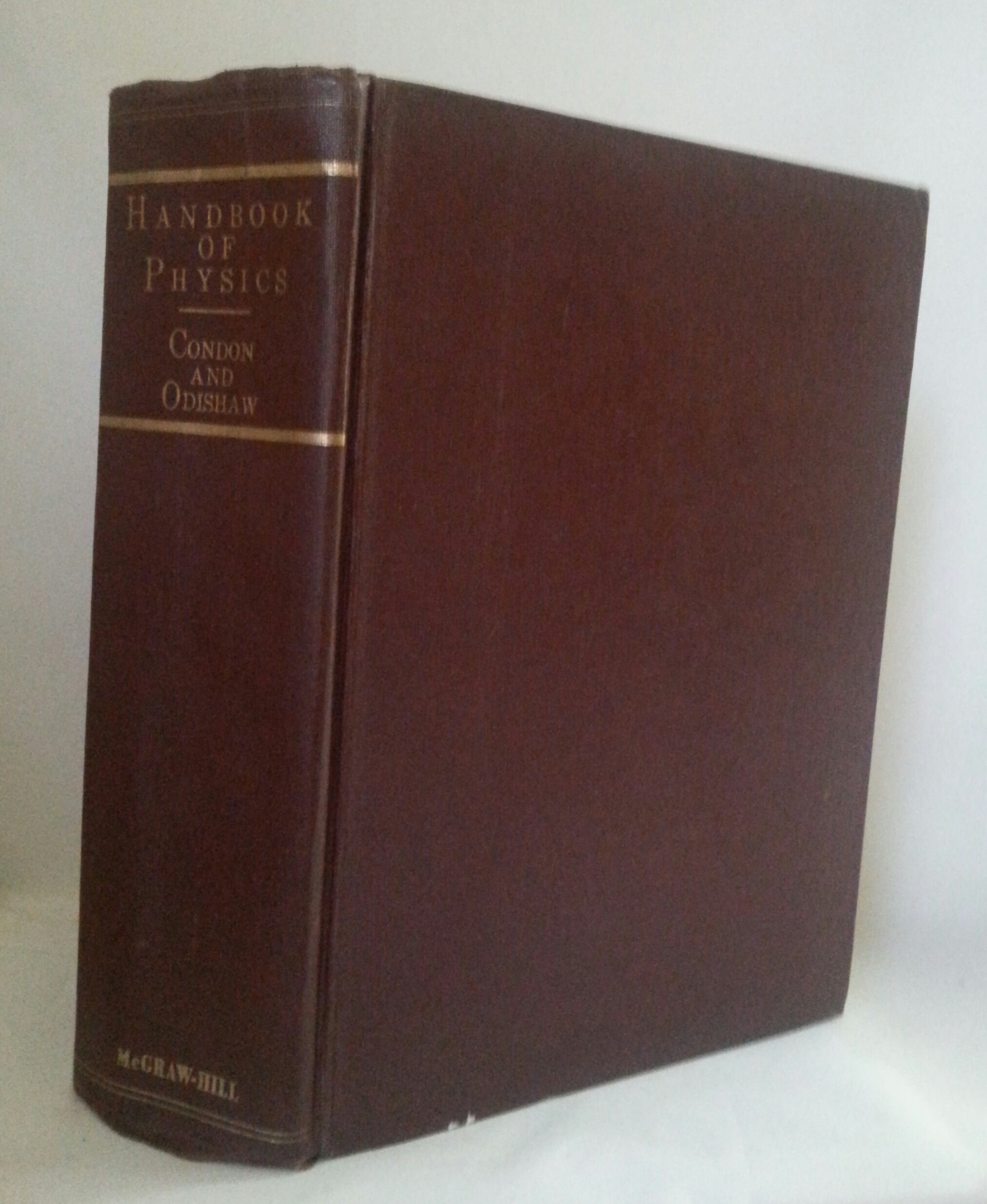 Handbook of Physics, E. U. Condon Editor