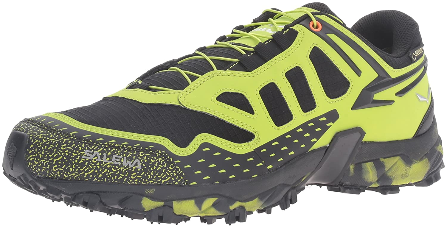 Salewa Ms Ultra Train GTX, Zapatillas de Senderismo para Hombre 47 EU|Multicolor (Black Out/Green 0972)