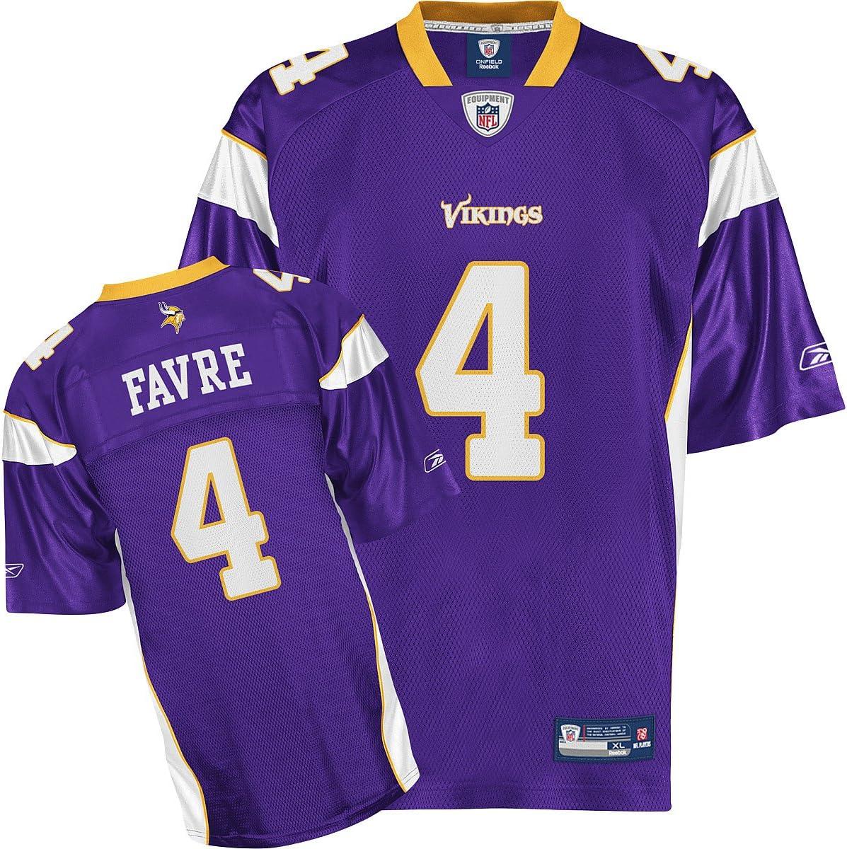 Amazon.com : Reebok Minnesota Vikings Brett Favre Youth Replica ...