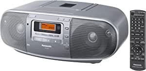 Panasonic RX-D50 Portable CD Radio Cassette Player Recorder, Silver