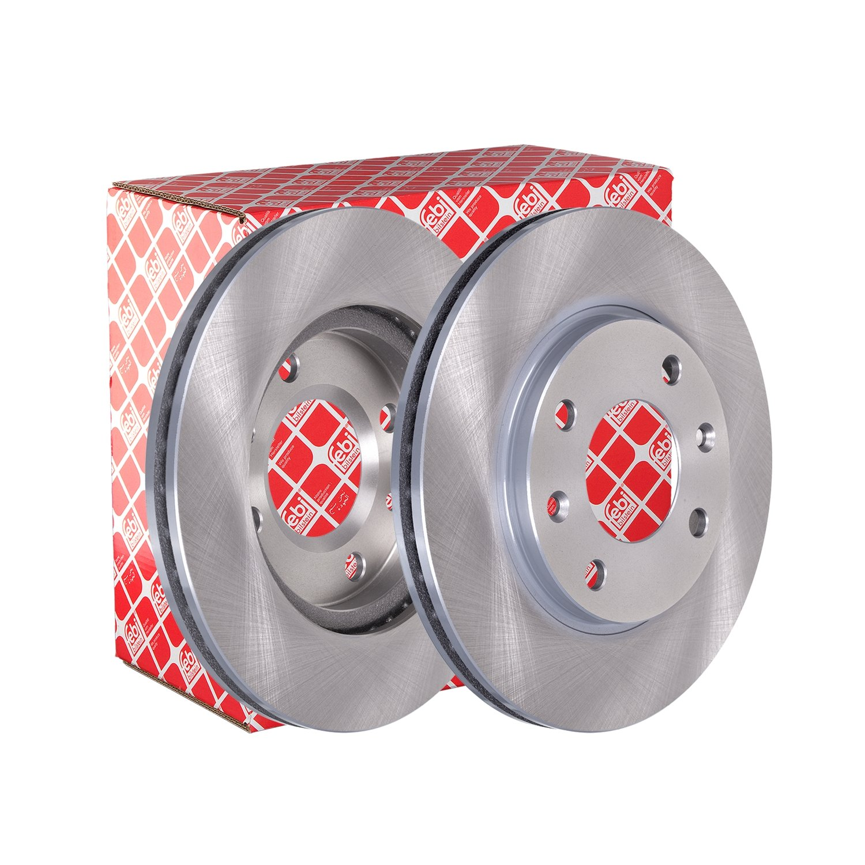 front 2 Brake Disc internally ventilated febi bilstein 10316 Brake Disc Set No of Holes 4