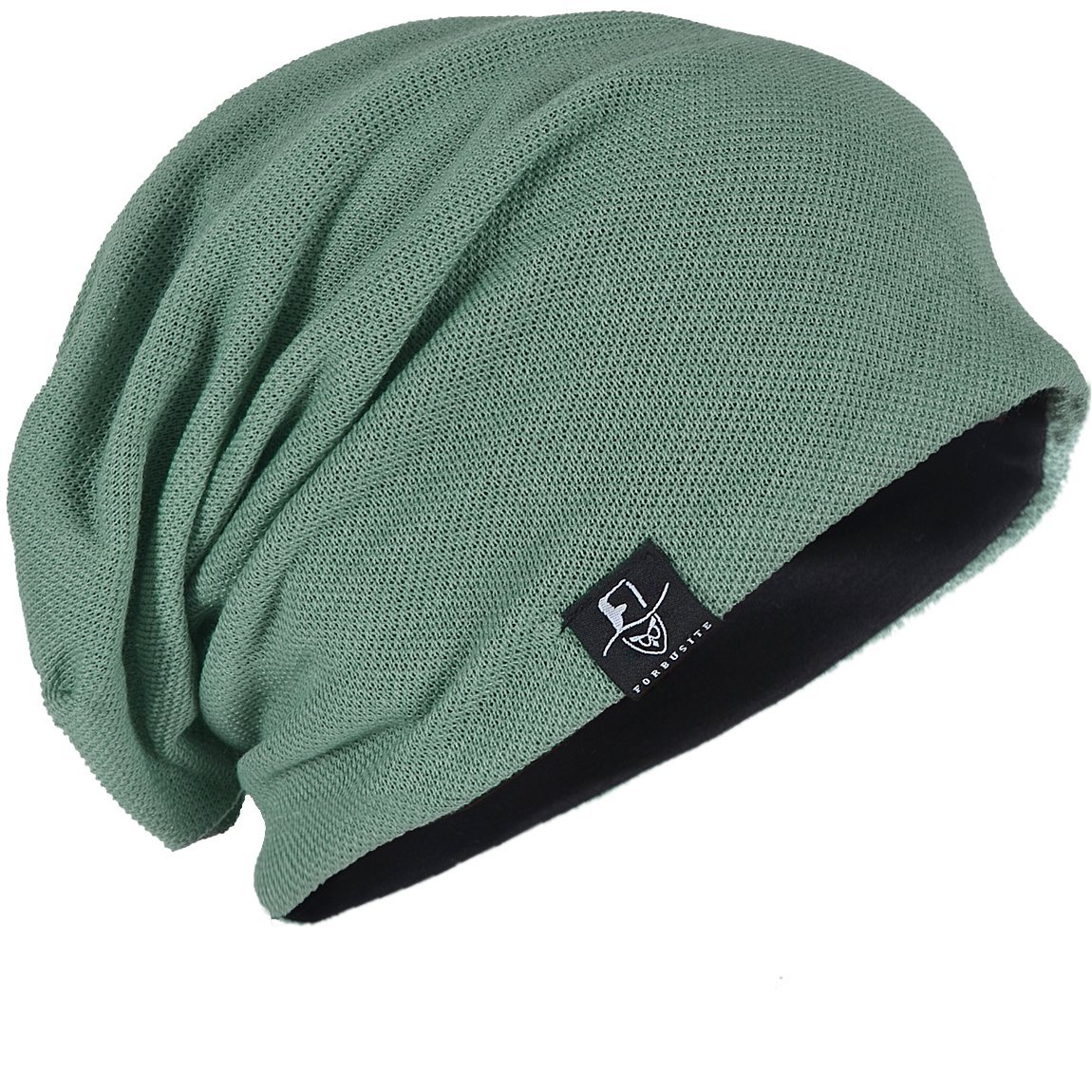 FORBUSITE Men Women Basic Slouch Thin Beanie Skull Cap for Summer B301 B081-B301-BL