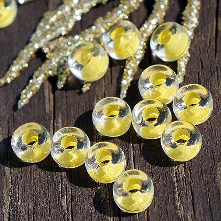 6 Mm Jaune Transparent Perles