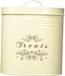 One for Pets Treat Canister Set – Pet Treats Jar Set, Cream
