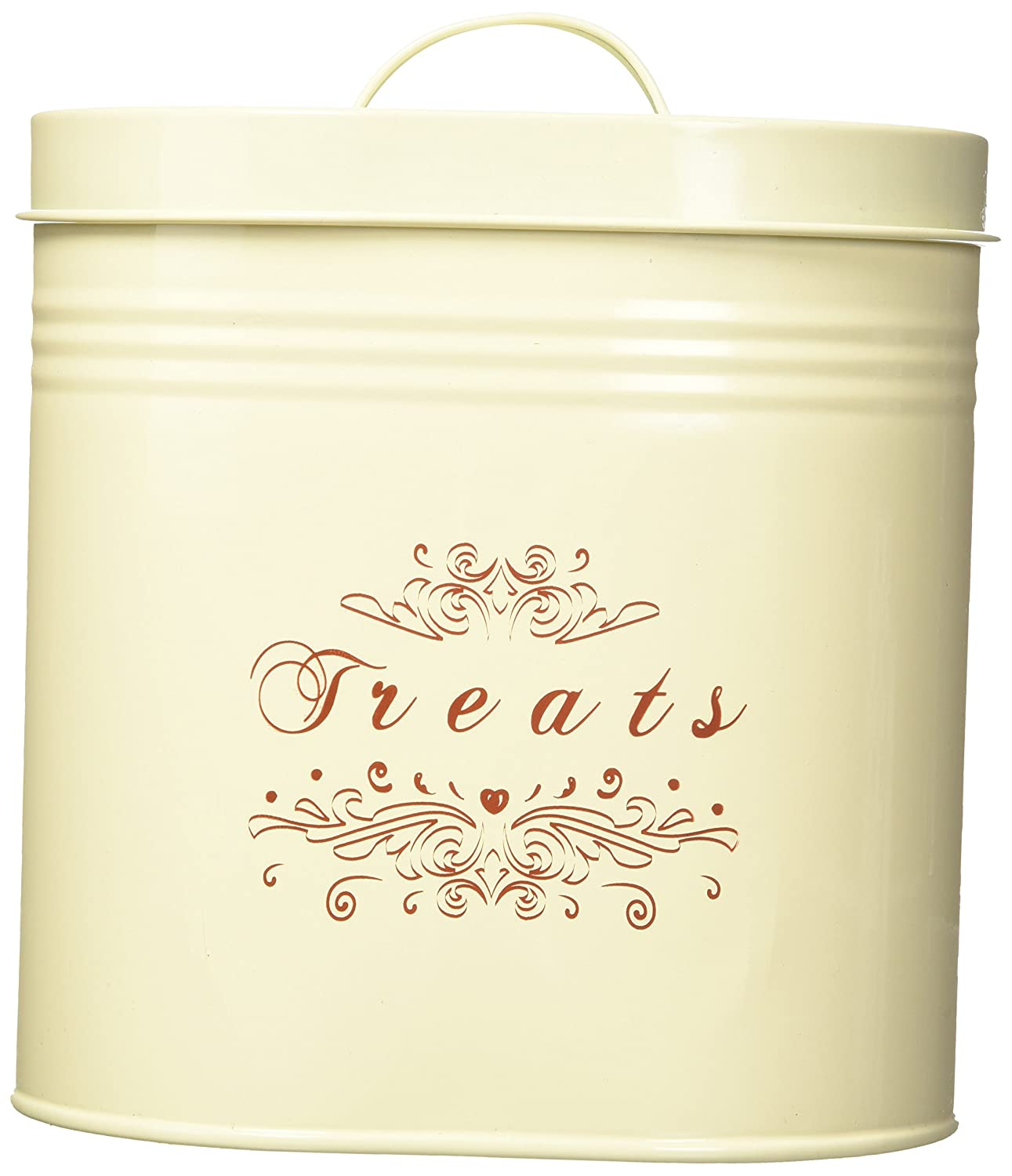 One for Pets Treats Canister Set, Cream