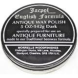 Jacpol Beeswax English Formula Antique Furniture Wax Polish (Dark Shade) - 5oz 142g