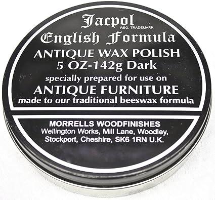Jacpol Beeswax English Formula Antique Furniture Wax Polish Dark
