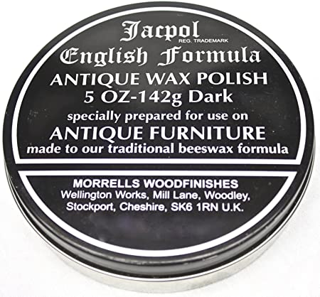 Jacpol Beeswax English Formula Antique Furniture Wax Polish (Dark Shade) -  5oz 142g - Jacpol Beeswax English Formula Antique Furniture Wax Polish (Dark